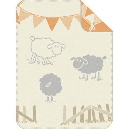 s.OLIVER Jacquard deka ovečka béžová - 75 x 100 cm