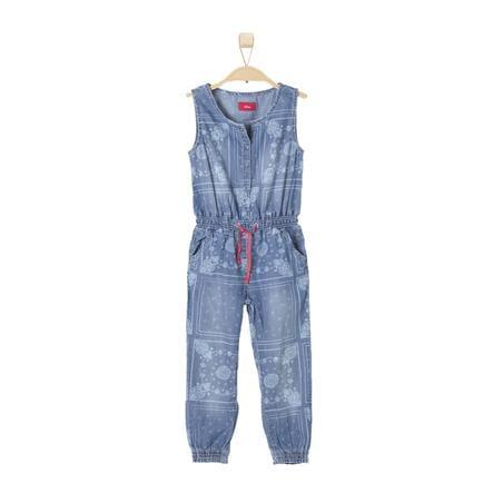 s.OLIVER Girl s spijkerbroek overall blauw denim stretch