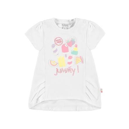 KANZ Girl s blanc T-Shirt vif