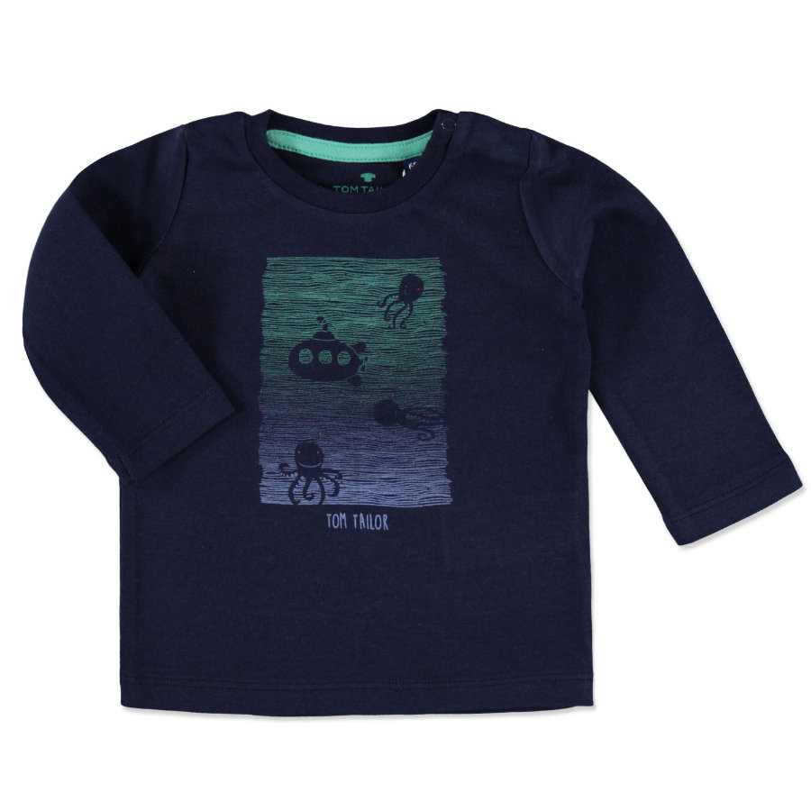 TOM TAILOR Boys Longsleeve dark blue