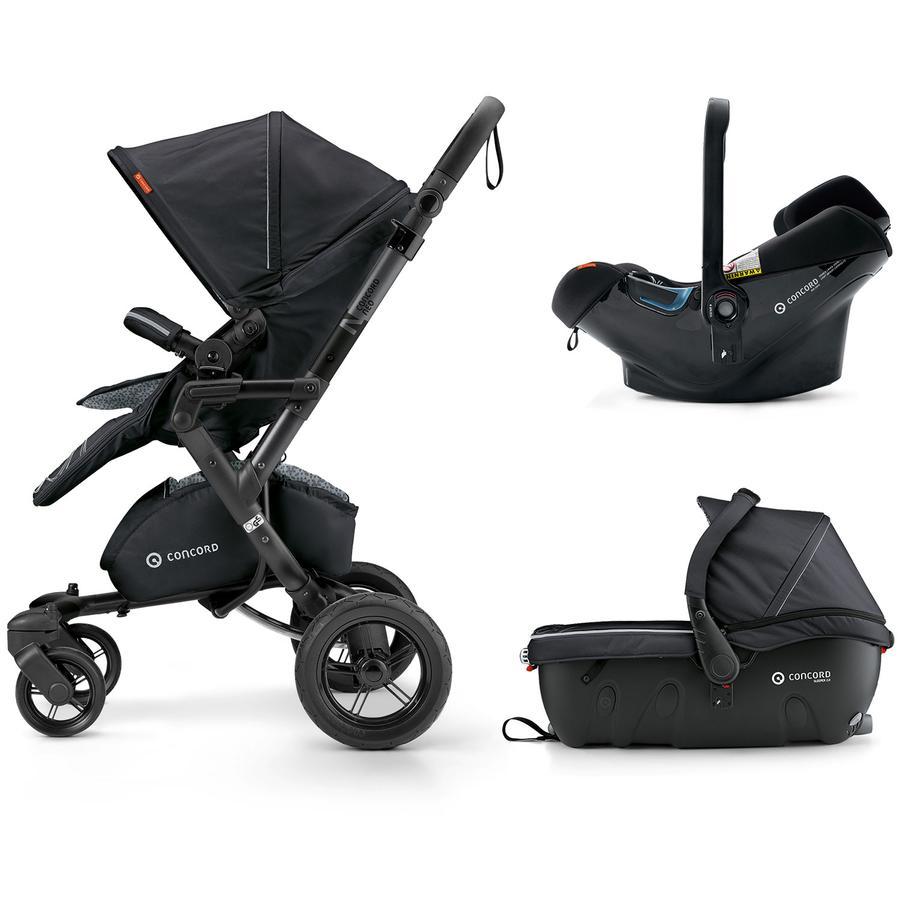 CONCORD Kinderwagen Neo Travel-Set Midnight Black