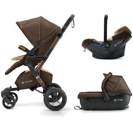 CONCORD Kinderwagen Neo Travel-Set Walnut Brown