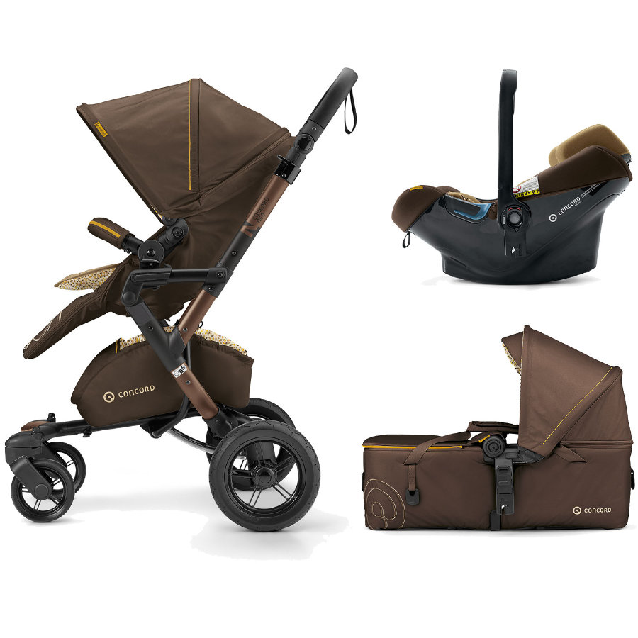 CONCORD Wózek Mobility-Set Walnut Brown