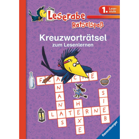 RAVENSBURGER Leserabe, 1. Lesestufe: Kreuzworträtsel zum Lesenlernen, lila