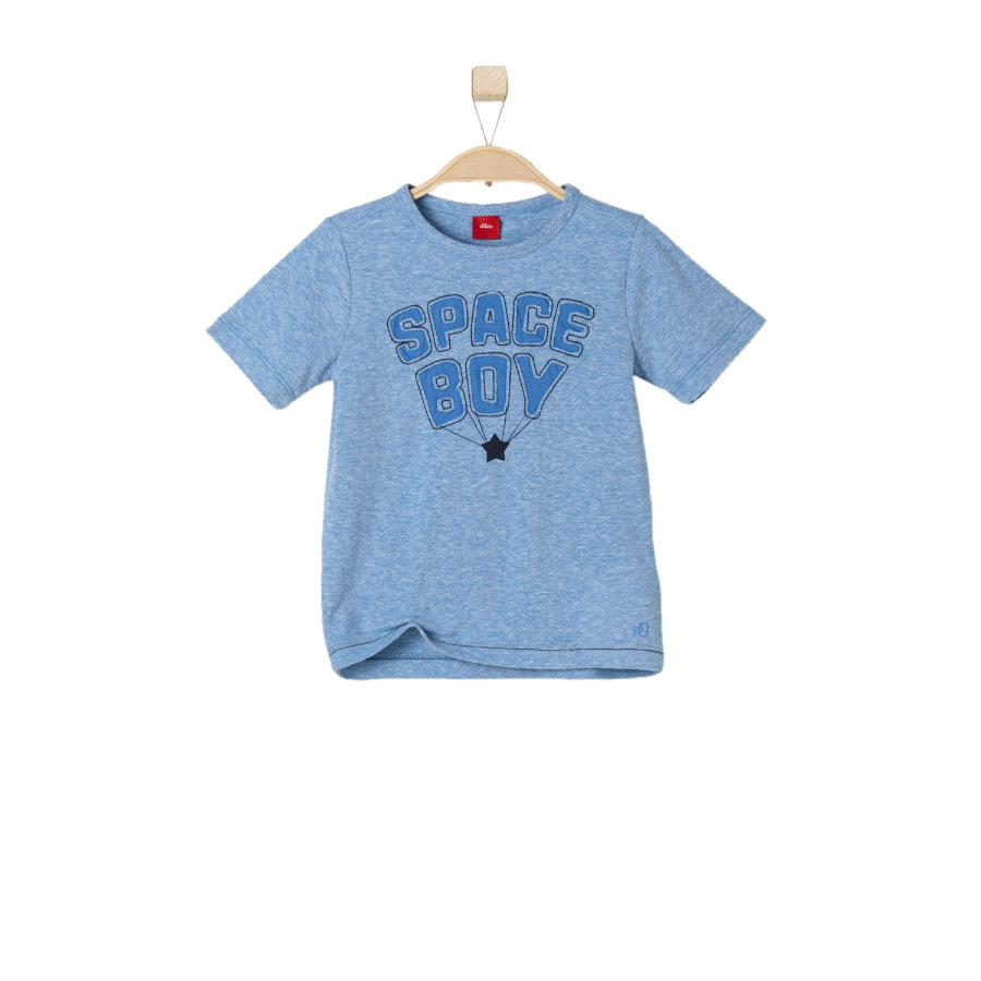 s.OLIVER Boys T-Shirt medium blue melange
