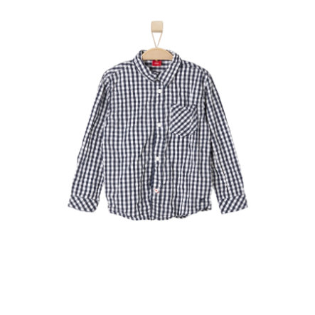 s.OLIVER Boys Košile dark blue check