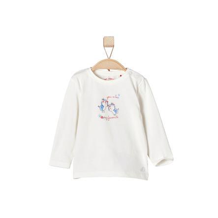 s.OLIVER Girls Tričko s dlouhým rukávem ecru