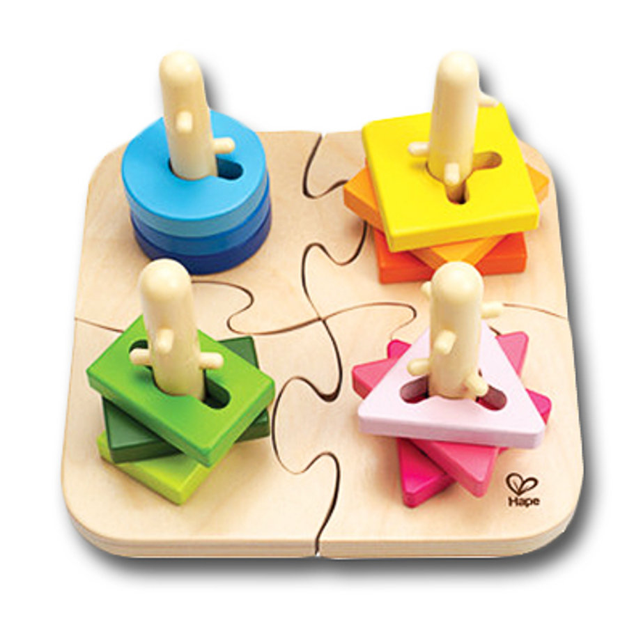 Hape Puzzle à empiler créatif bois E0411