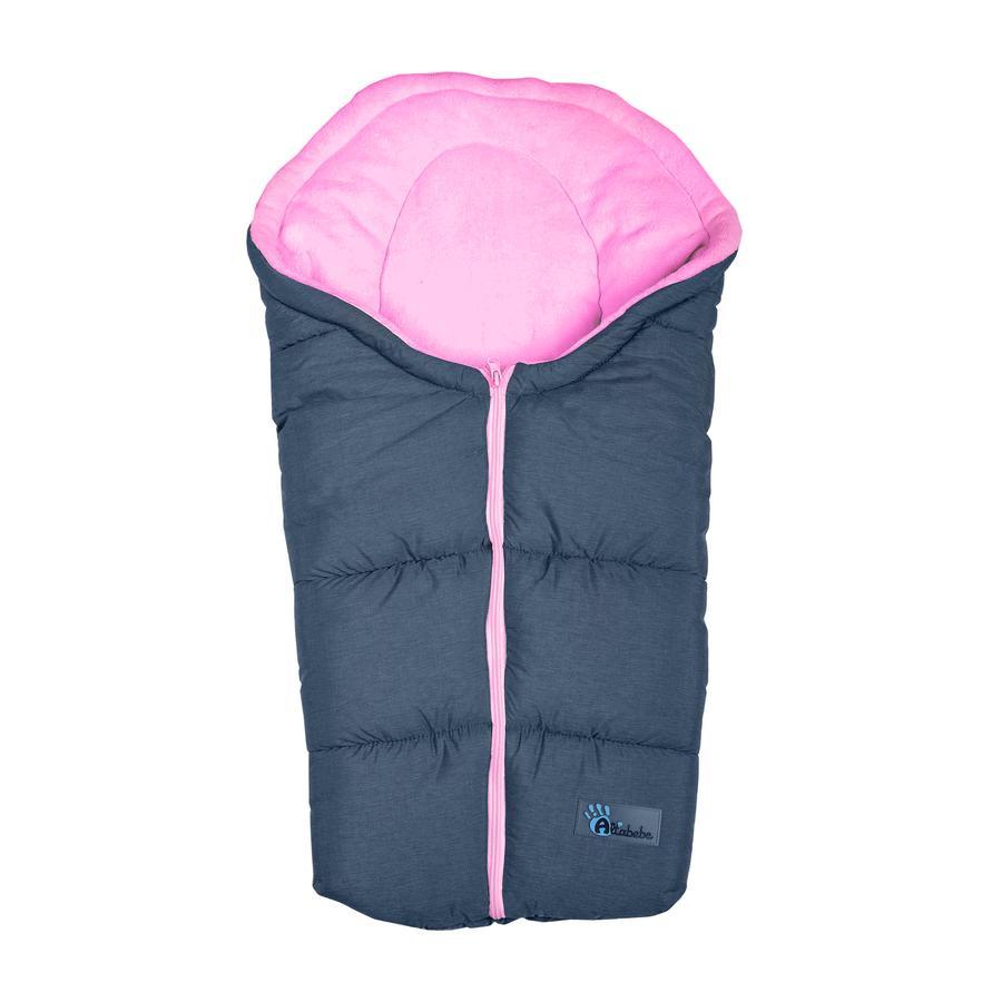 Altabebe Winterfußsack Alpin für Kindersitz Gruppe 0+ dunkelgrau - rose