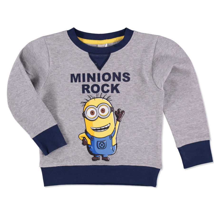 NAME IT Boys Mikina NITMINIONS grey melange