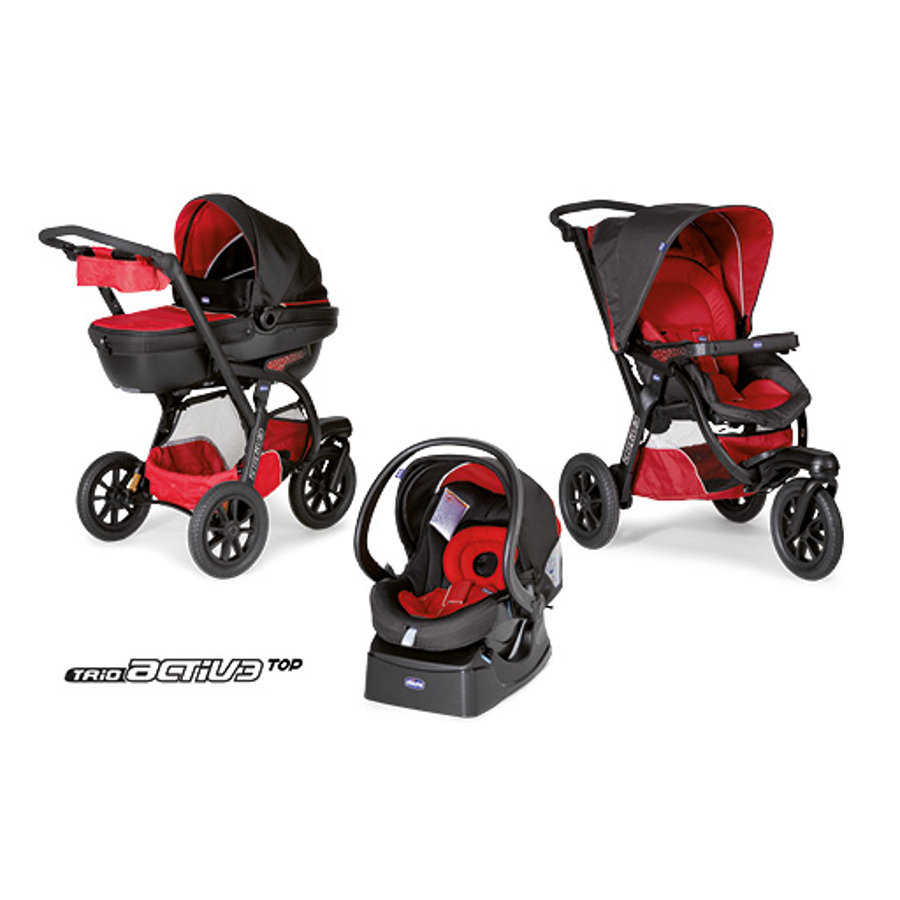 CHICCO Travel System Trio Activ 3 avec Kit-Car RACE