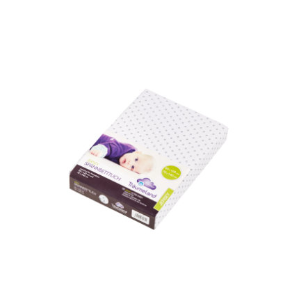 Träumeland Spannbetttuch Jersey graue Punkte 60 x 120-70 x 140 cm