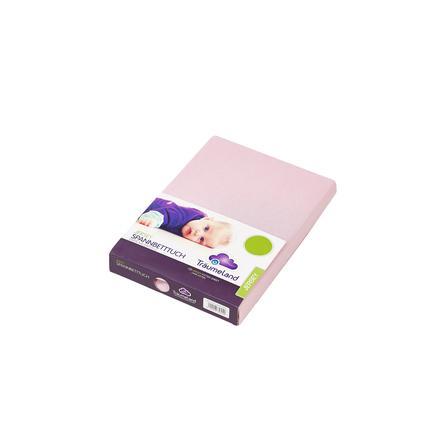 Träumeland Spannbetttuch Jersey rosa 60 x 120 cm - 70 x 140 cm