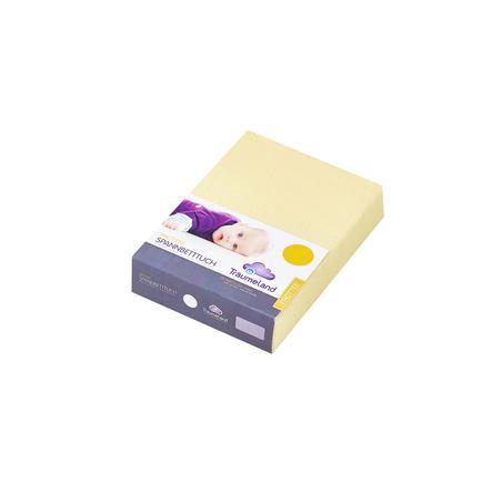 TRÄUMELAND Pokrowiec na gumce do maty do przewijania frottee 100x 100 cm kolor żółty