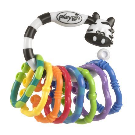 playgro Anillo de dentición cadena de cascabel Zebra 9 uds.