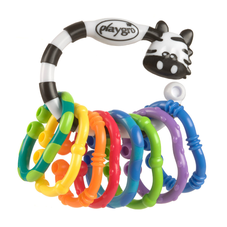 playgro Bidering-Rangle Zebra 9 dele