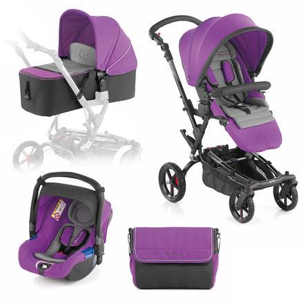 JANÉ Sportwagen Epic inklusive Babyschale Koos und Tragewanne Micro Blush