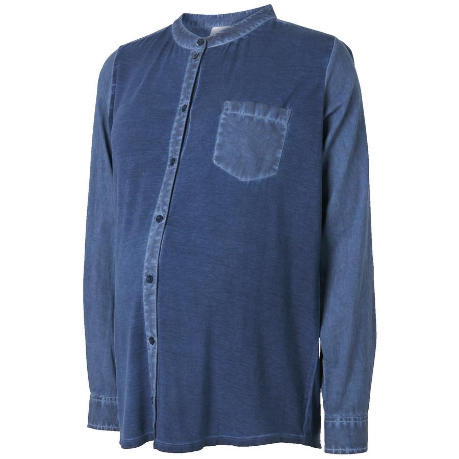 MAMA LICIOUS blouse circonstance MLFAY bleu foncé