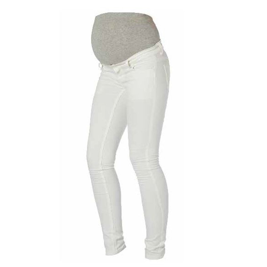 MAMA LICIOUS BASIC Umstandsjeans MLSHELLY weiß
