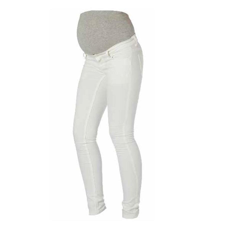 MAMA LICIOUS BASIC Zwangerschapsmode Jeans SHELLY wit