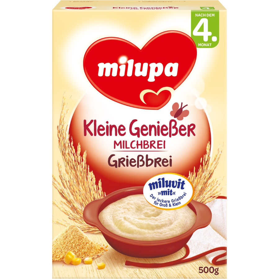 Milupa Semolina Cereal after the 4th month miluvit >with< 500g