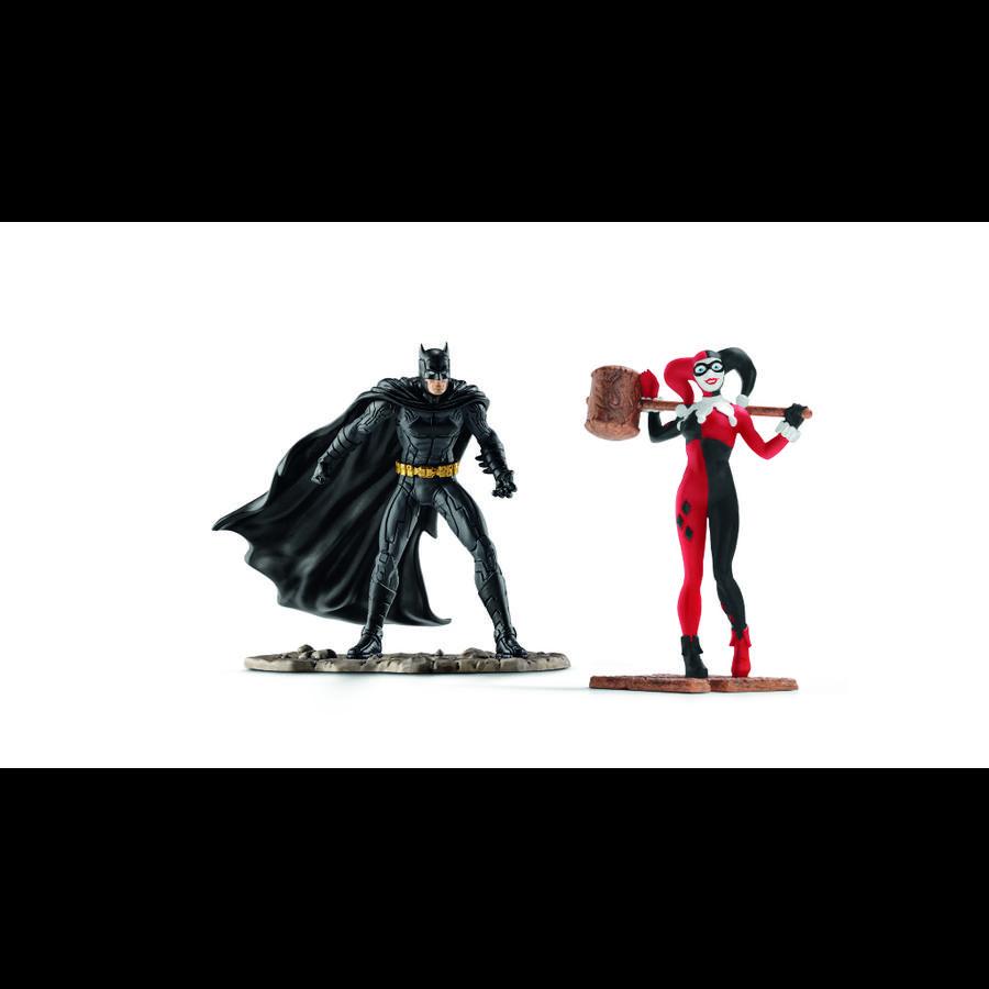 Schleich Figurine Batman contre Harley Quinn DC Comics 22514