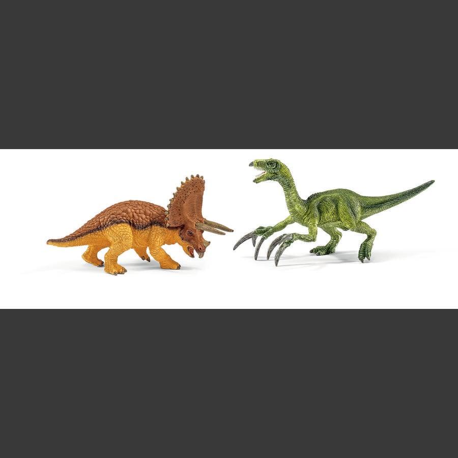 SCHLEICH Dinosauri - Triceratopo e Therizinosaurus, piccolo 42217