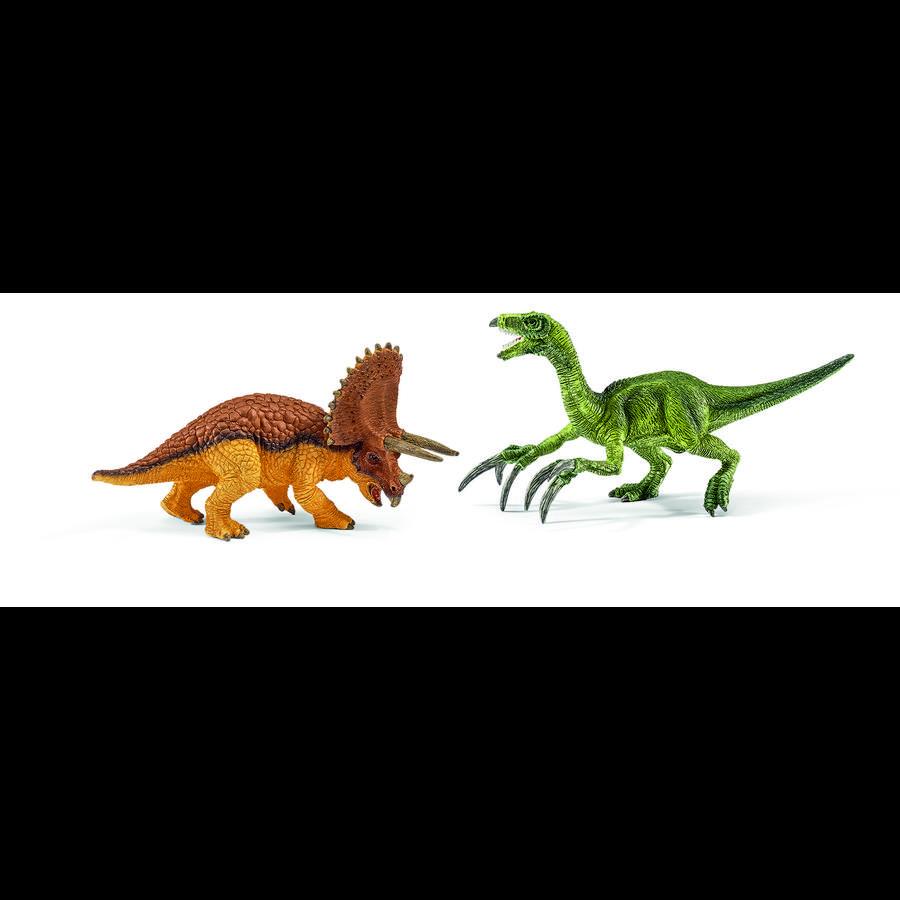 SCHLEICH Dinosaurier - Triceratops en  Therizinosaurus, klein 42217