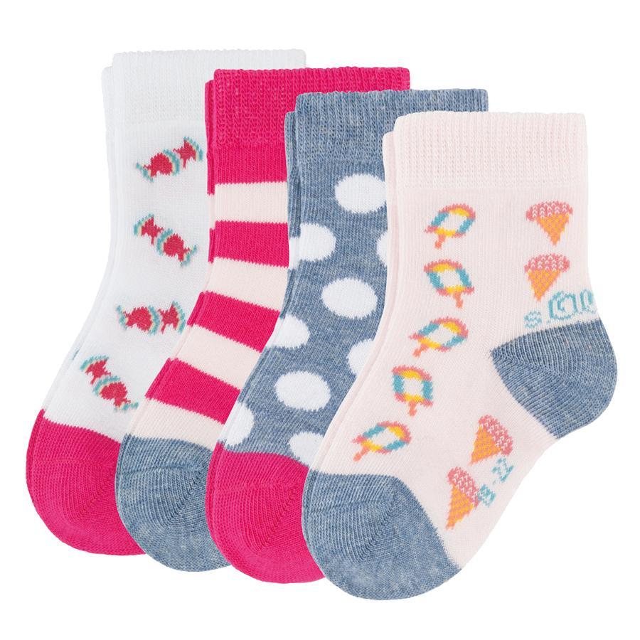 S.OlLIVER Baby Fashion Socken 4er-Pack stone-melange