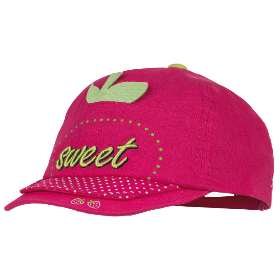 MAXIMO Girls Cap Sweet pink weiße Punkte