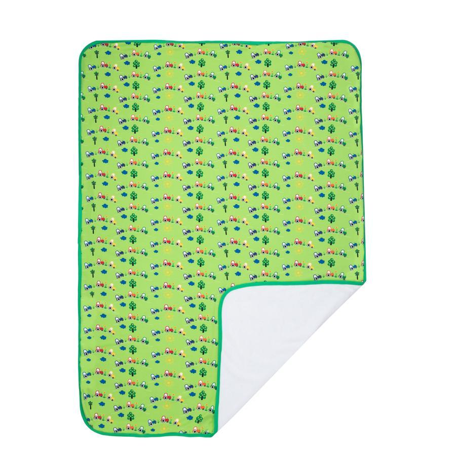 Maximo Hyggetæppe med bånd grøn