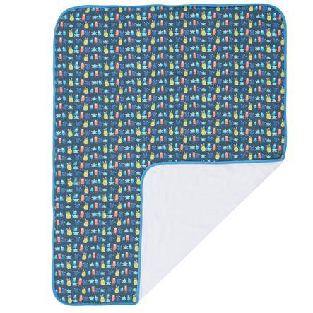 Maxi mo Koc z taśmą obrzeżową Monster Edging tape dark blue