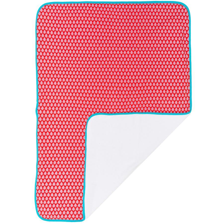 Maxi mo Coperta con nastro bordino rosso