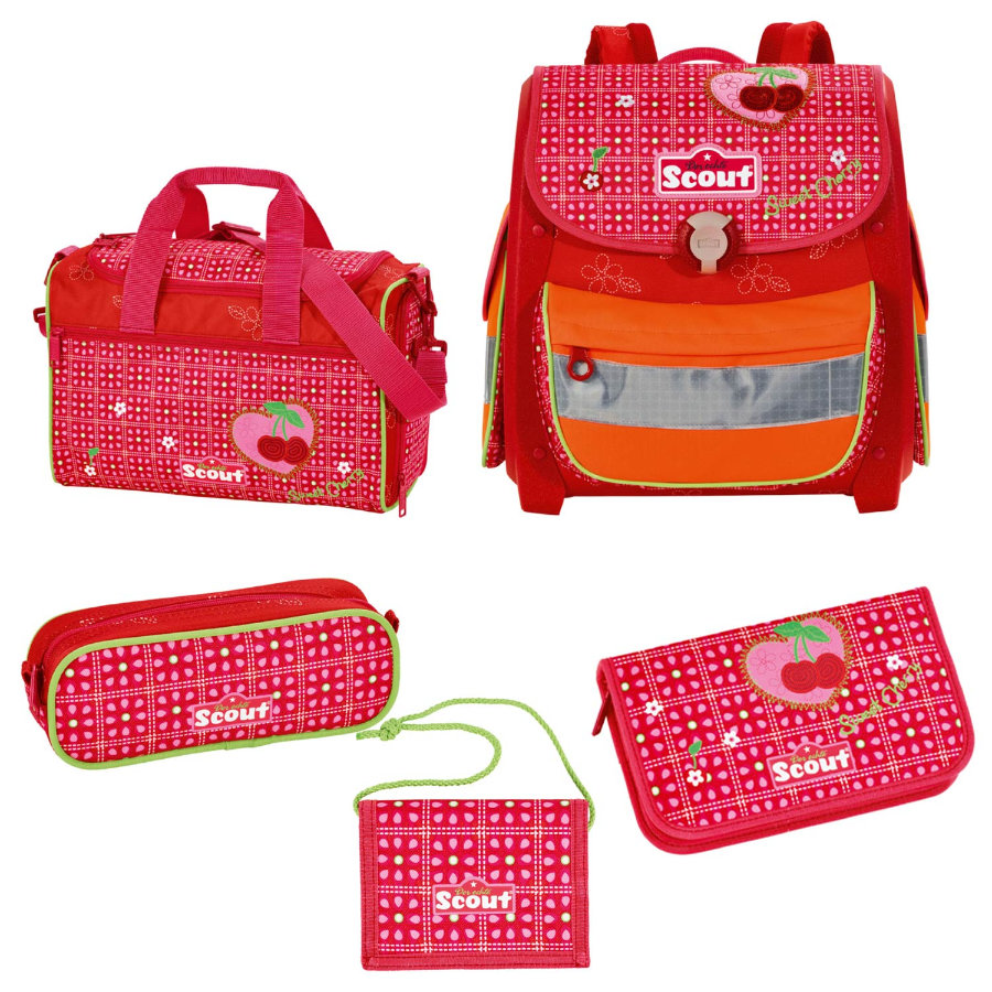 SCOUT Ryggsäck Basic Buddy-Set 2, 5 delar  - Sweet Cherry