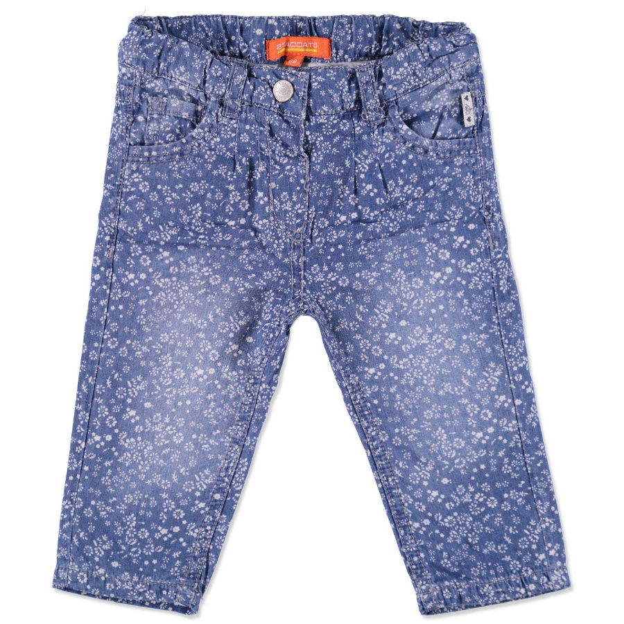 STACCATO Flickor Baby Jeans blå blomma