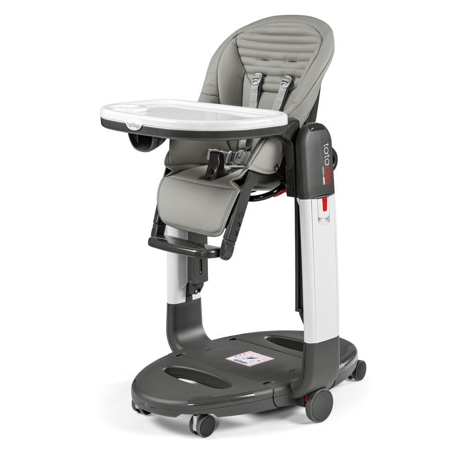 PEG-PEREGO Krzesełko do karmienia TATAMIA 3 in 1 Stripes Grey (imitacja skóry)