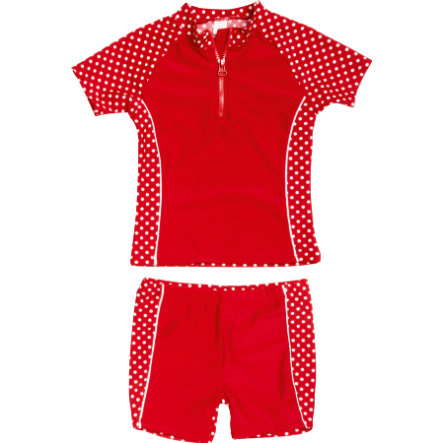 Playshoes UV-Schutz Bade-Set Punkte rot