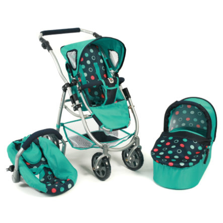 BAYER CHIC 2000 3in1 Kombi-Puppenwagen EMOTION menta