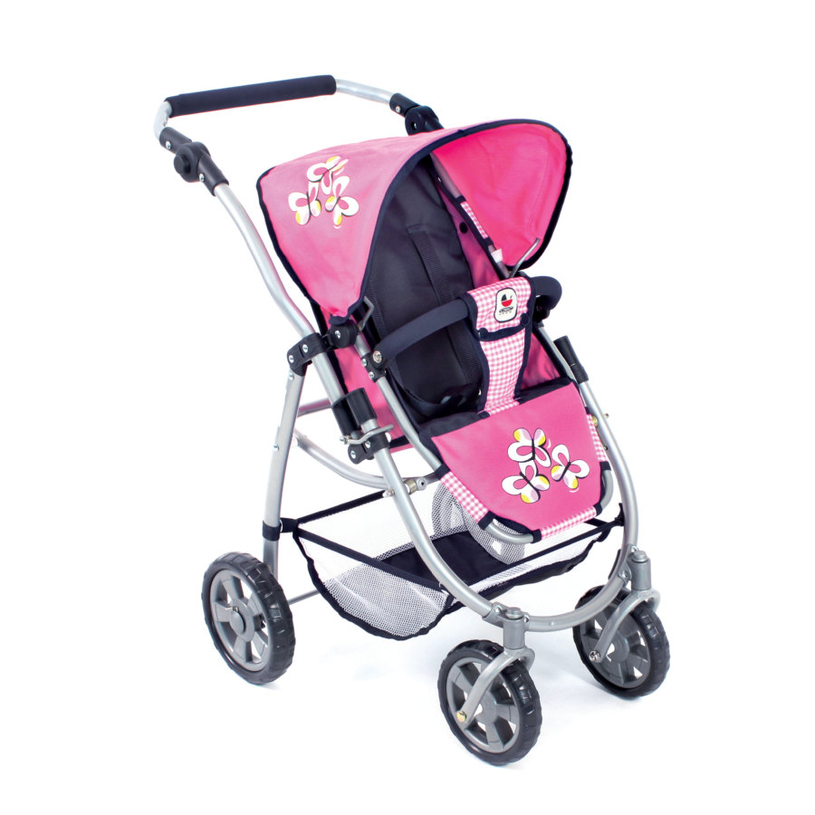 BAYER CHIC 2000 2in1 Kombi-Puppenwagen EMOTION pink checker