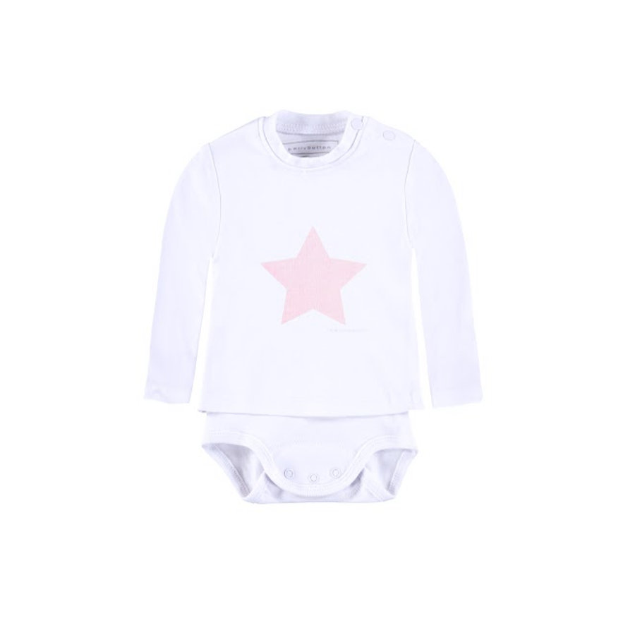 BELLYBUTTON Baby Body a manica lunga rosa
