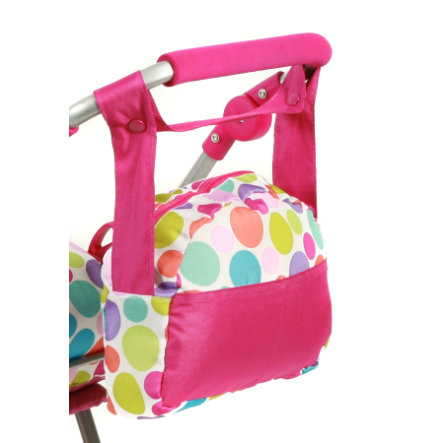 BAYER CHIC 2000 Puppen-Wickeltasche pinky bubbles
