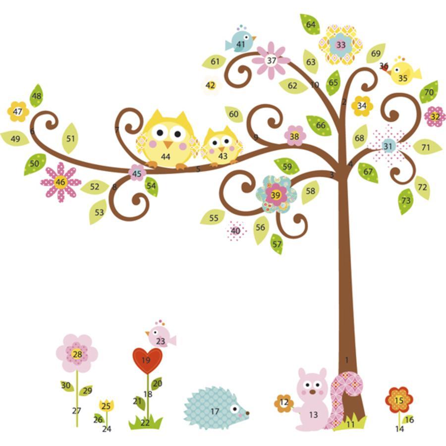 ROOMMATES Nálepky na stěnu - Happi obrovský strom