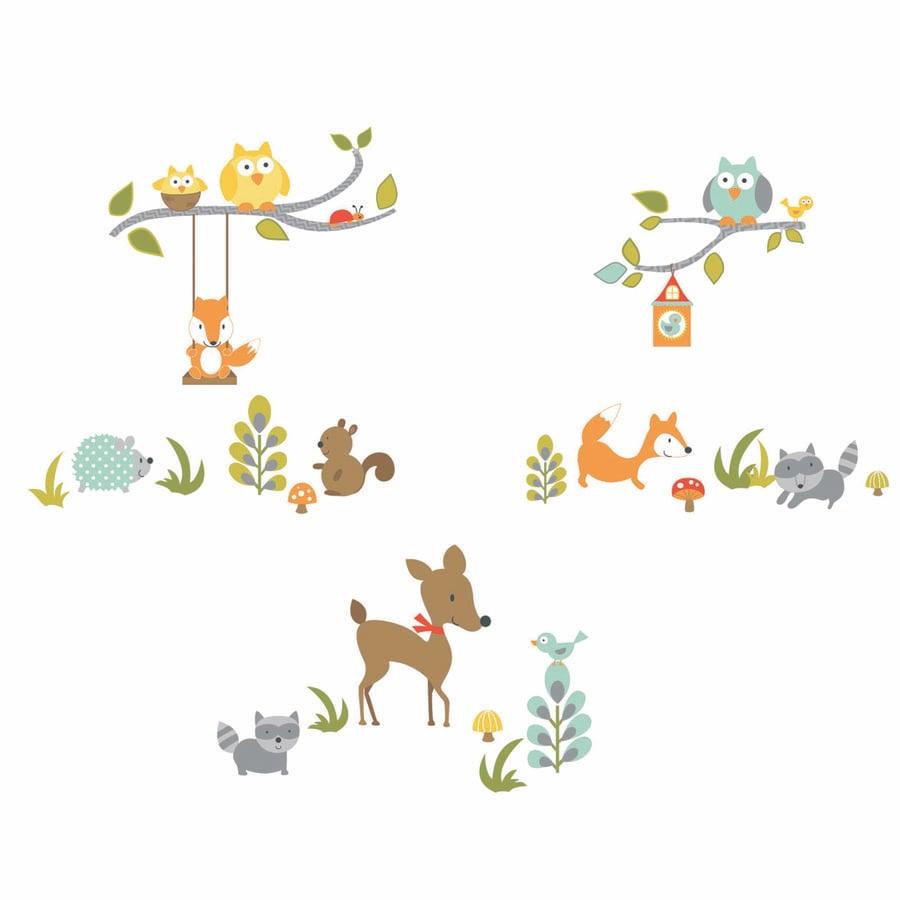 ROOMMATES Wandsticker - Fuchs und Freunde