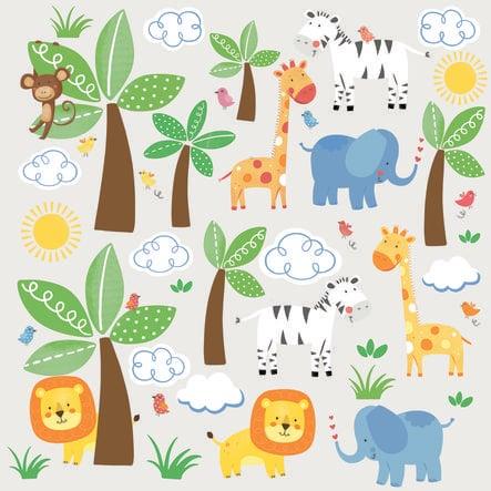 Adesivo murale RoomMates® - Amici della giungla