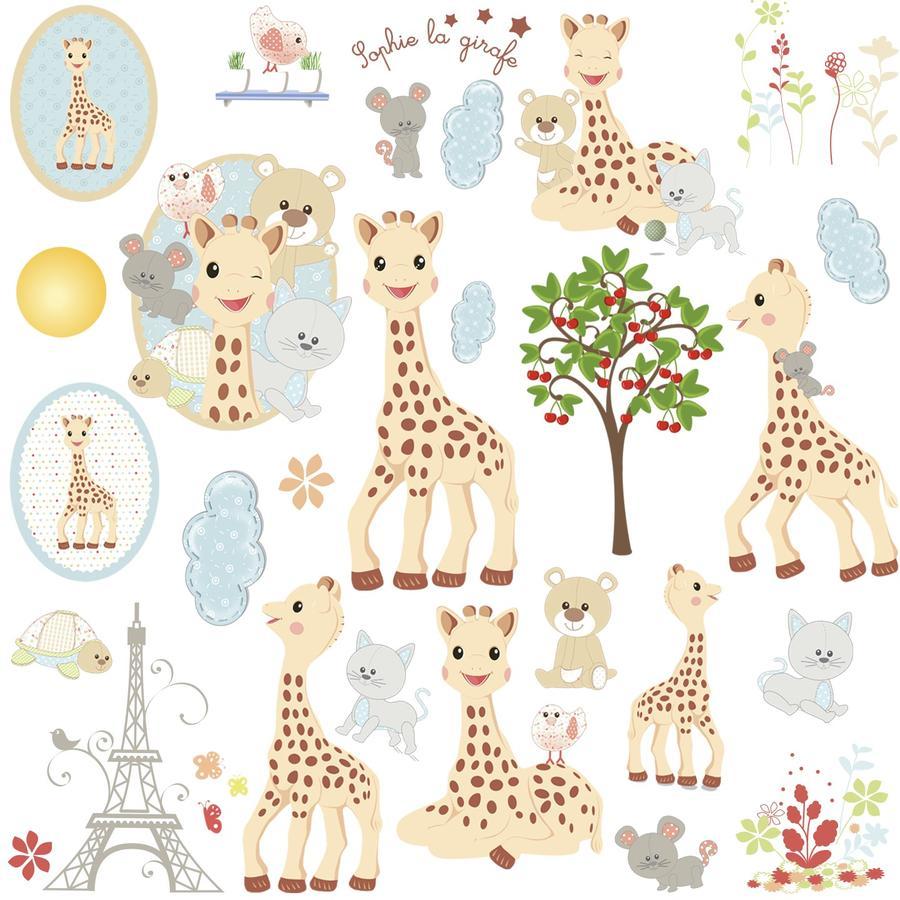 ROOMMATES Muursticker - Sophie de giraf en haar vrienden