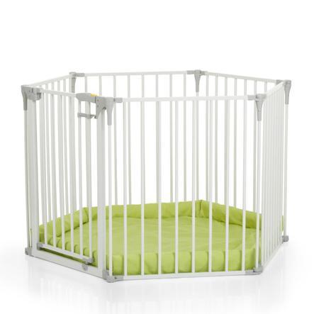hauck Barrière de sécurité enfant multifonction, blanc