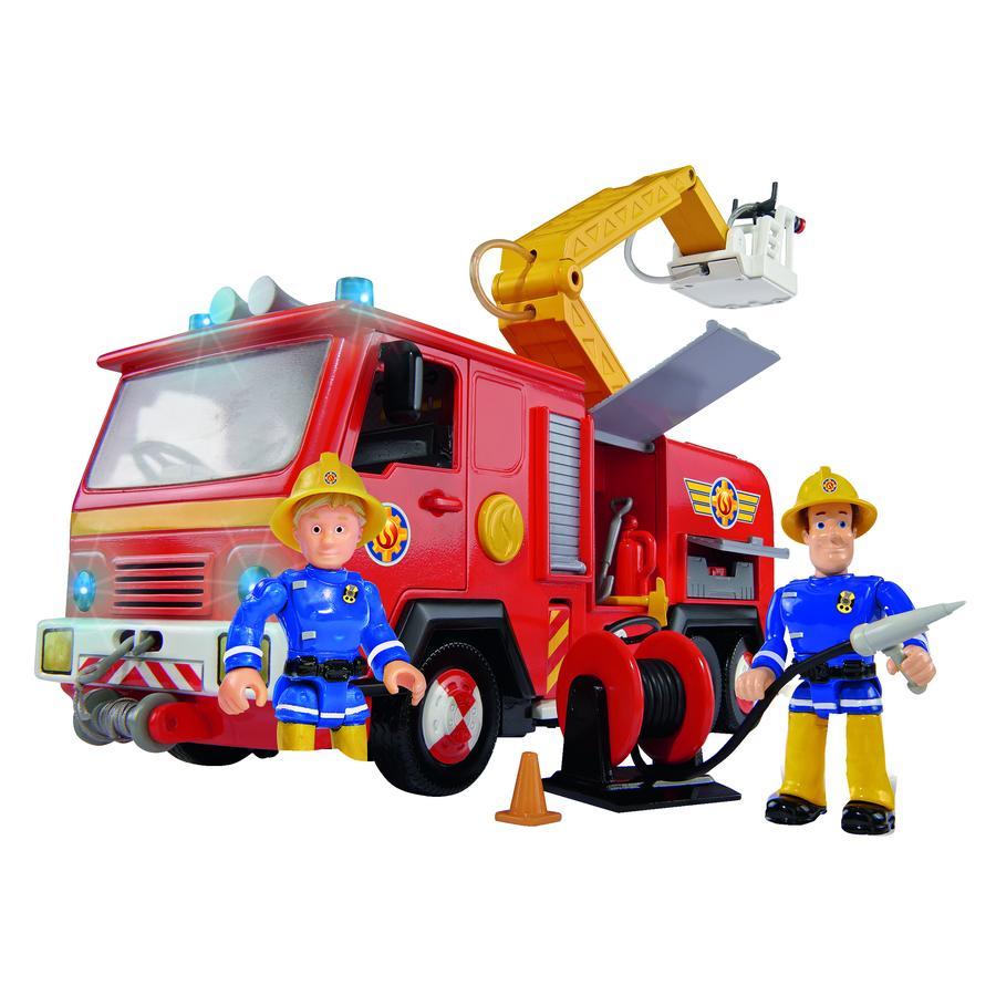 """SIMBA Sam il Pompiere - Camion dei Pompieri """"Jupiter"""" con 2 Personaggi"""