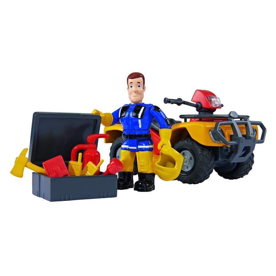 SIMBA Brandweerman Sam - Mercury-Quad met figuur