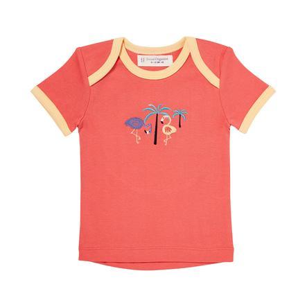 SENSE ORGANICS T-shirt för flickor TILLY mörk korall