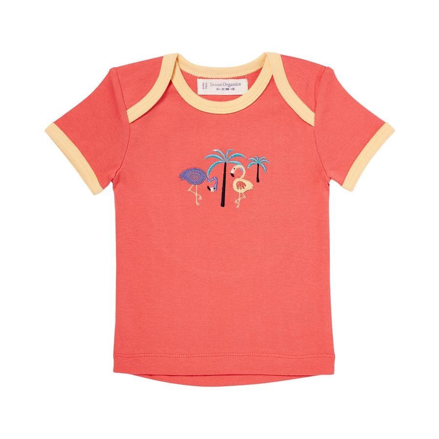 SENSE ORGANICS Girl s T-Shirt TILLY ciemny koralowiec.